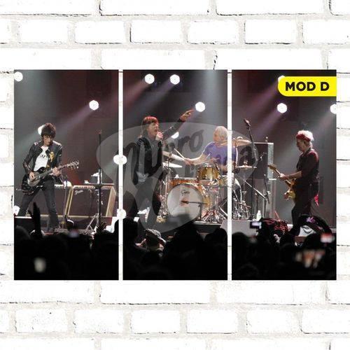 Quadro Triplo Decorativo - Rolling Stones - Modelo D