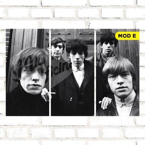 Quadro Triplo Decorativo - Rolling Stones - Modelo e