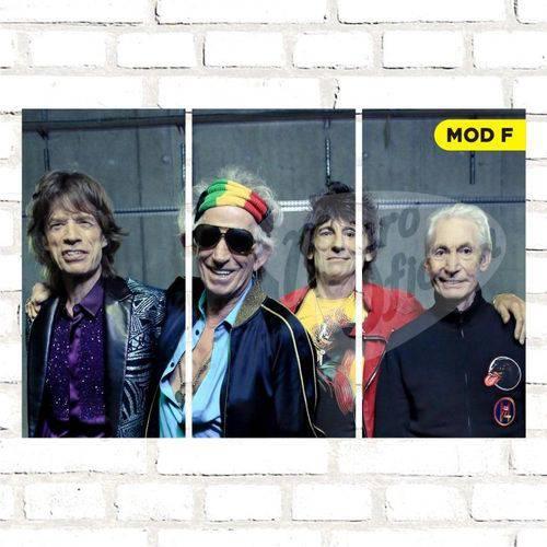 Quadro Triplo Decorativo - Rolling Stones - Modelo F