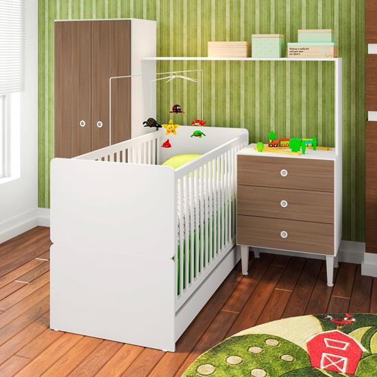 Quarto Infantil C/ Berço Compacto CJ002 - Art In Móveis | Elare