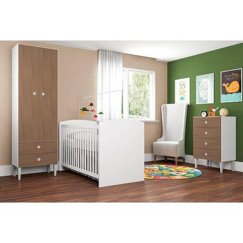 Quarto Infantil com Berço Aconchego 2 Portas 6 Gavetas Art In Móveis