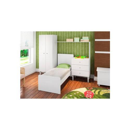 Quarto Infantil com Berço Compacto Branco Art In Móveis