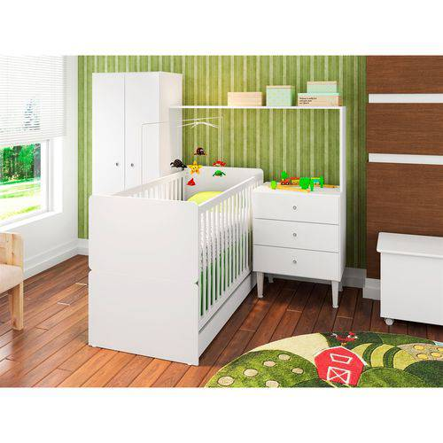 Quarto Infantil com Berço Compacto CJ002 Art In Móveis