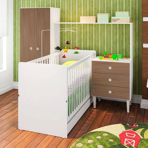 Quarto Infantil com Berço Compacto Montana - Art In Móveis