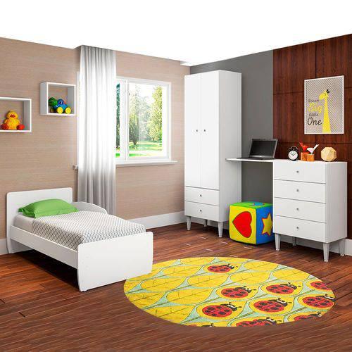 Quarto Infantil com Berço Docinho Branco - Art In Móveis