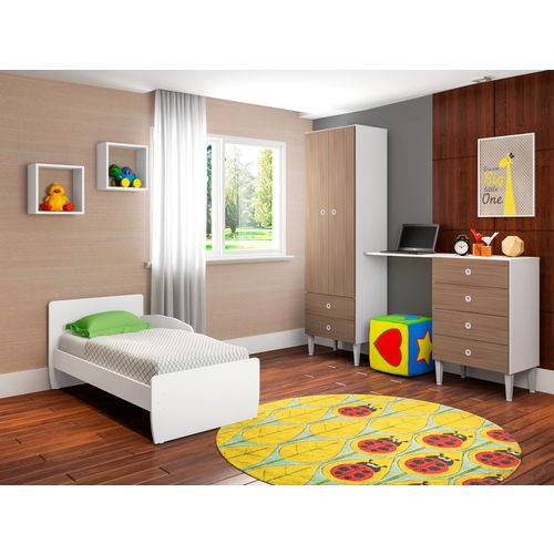 Quarto Infantil com Berço Docinho Montana - ATMCJ004 MT - Art In Móveis