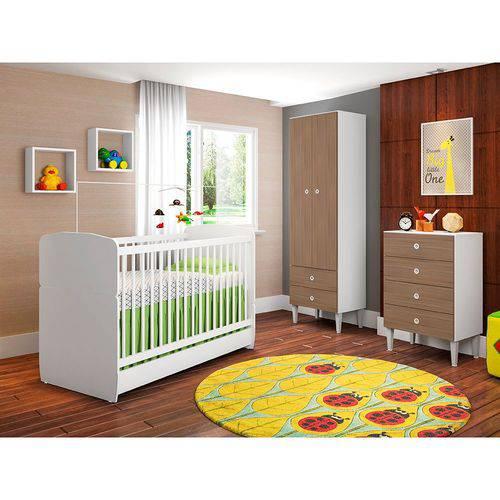 Quarto Infantil com Berço Docinho 2 Portas 6 Gavetas Art In Móveis