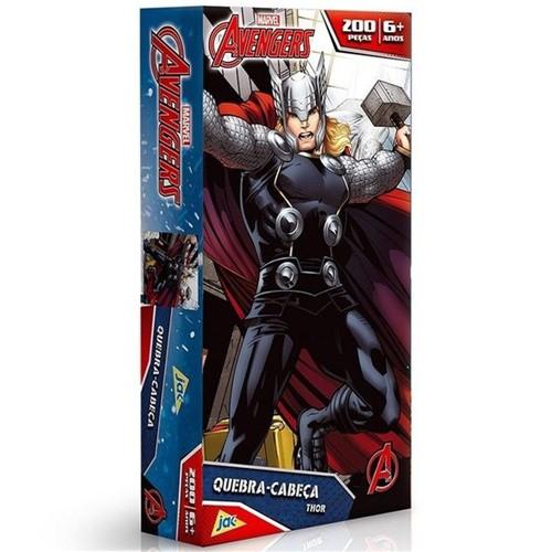 Quebra Cabeca 200 Pc os Vingadores Cap. America e Thor Toyster