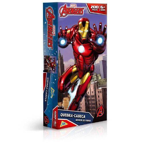 Quebra-Cabeça 200 Peças - os Vingadores - Homem de Ferro