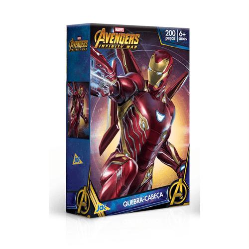 Quebra-cabeça 200 Peças Vingadores Homem de Ferro