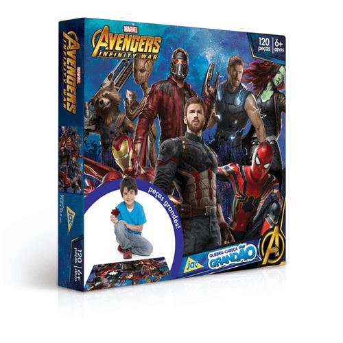 Quebra-cabeça 120 Peças Vingadores Grandão