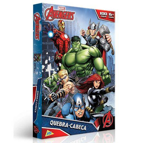 Quebra-cabeça Avengers Marvel 100 Peças - Jak