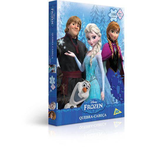 Quebra-cabeca Cartonado Frozen 100 Pecas Toyster Unidade