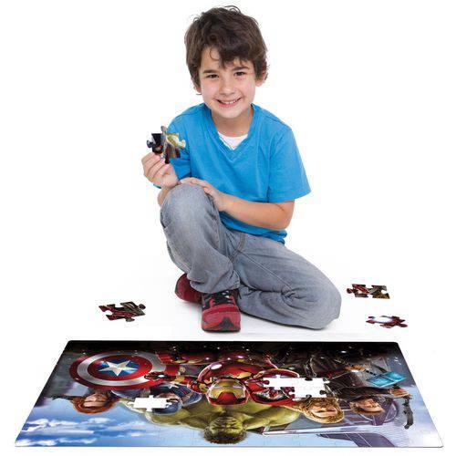 Quebra-cabeca Cartonado Vingadores Grandao 120 Pecas Toyster