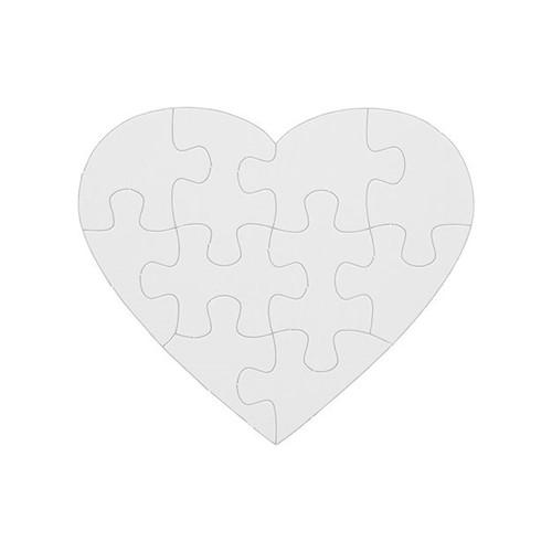 Quebra-cabeça com Brilho - Coração - 5 Unidades Coração Pacote