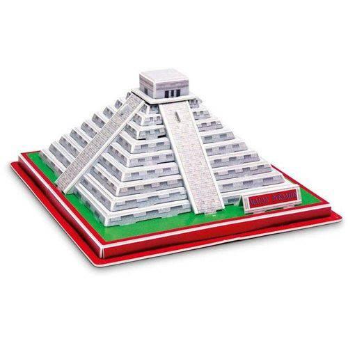 Quebra-Cabeça 3d - Série 3 Monumentos - Pirâmide Maya - Península de Yuacatán - Dtc