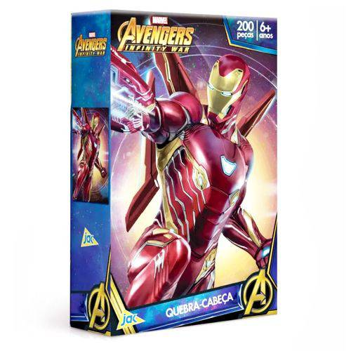 Quebra-cabeça Homem de Ferro 200 Peças os Vingadores - Toyster 2166