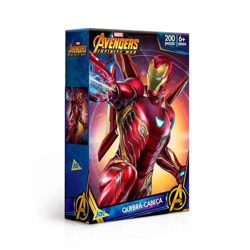 Quebra Cabeça Homem de Ferro Guerra Infinita 200 Peças Toyster