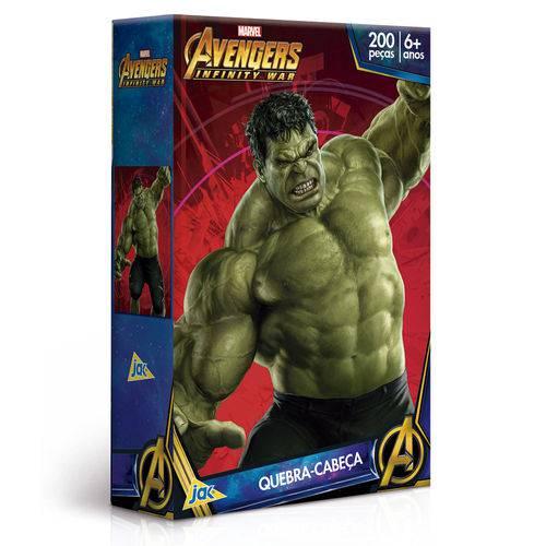 Quebra-cabeça - os Vingadores - Guerra Civil - Hulk - 200 Peças - Toyster