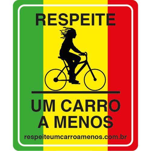 """""""Placa de Sinalização para Bicicleta Rasta"""""""