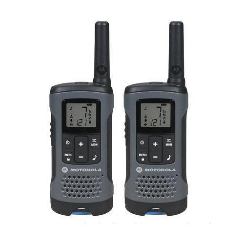 Rádio Comunicador Motorola Talkabout 32km T200mc 26 Canais 2 Unidades - Cinza
