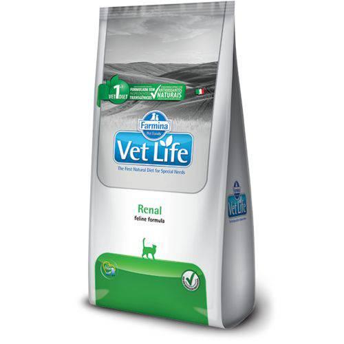 Ração Farmina Vet Life Natural Renal para Gatos Adultos com Problemas Renais - 2kg