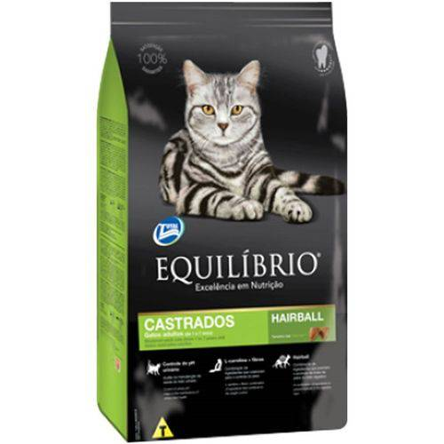 Ração Equilibrio Gato Castrado 1 a 7 Anos 1,5kg