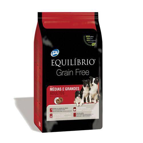 Ração Equilíbrio Grain Free para Cães Adultos Raças Médias e Grandes - 12 Kg