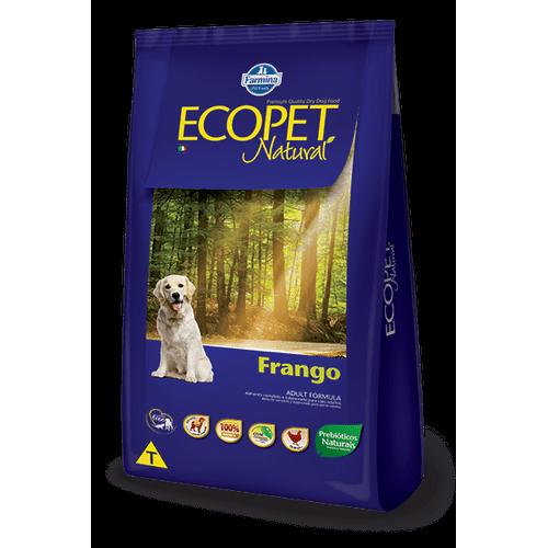 Ração Farmina Ecopet Natural Canine Formula para Cães Adultos Sabor Frango 15kg