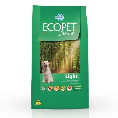 Ração Farmina Ecopet Natural Light para Cães Adultos 15kg