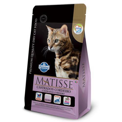 Ração Farmina Matisse Cordeiro para Gatos Adultos Castrados - 800g