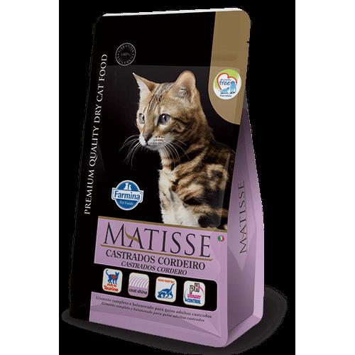Ração Farmina Matisse Feline Formula para Gatos Adultos Castrados Sabor Cordeiro 10,1kg
