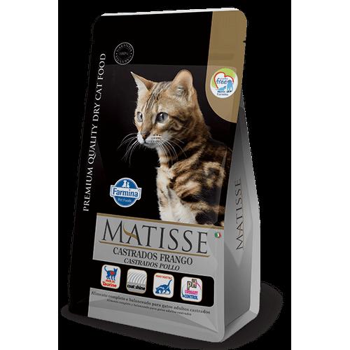 Ração Farmina Matisse Feline Formula para Gatos Adultos Castrados Sabor Frango 10,1kg