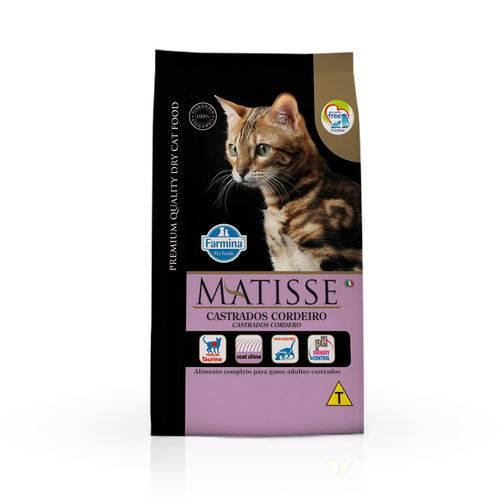Ração Farmina Matisse para Gatos Adultos Castrados Sabor Cordeiro - 10,1kg