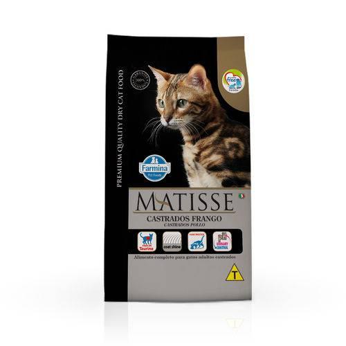 Ração Farmina Matisse para Gatos Adultos Castrados Sabor Frango - 800g