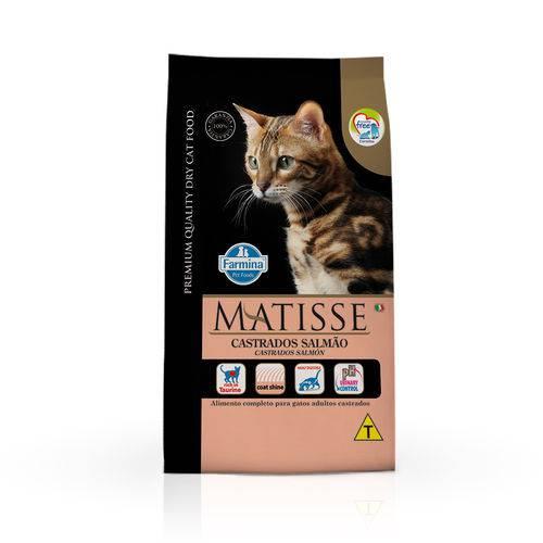 Ração Farmina Matisse para Gatos Adultos Castrados Sabor Salmão - 10,1kg