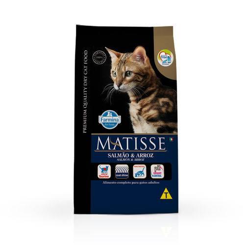 Ração Farmina Matisse para Gatos Adultos Sabor Salmão e Arroz - 800g