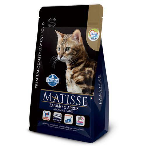 Ração Farmina Matisse Salmão e Arroz para Gatos Adultos - 10,1kg
