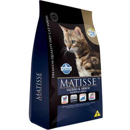 Ração Farmina Matisse Salmão e Arroz para Gatos Adultos - 800 G