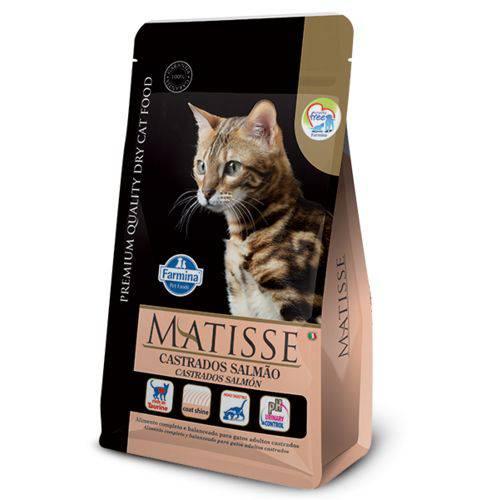 Ração Farmina Matisse Salmão para Gatos Adultos Castrados - 10,1kg