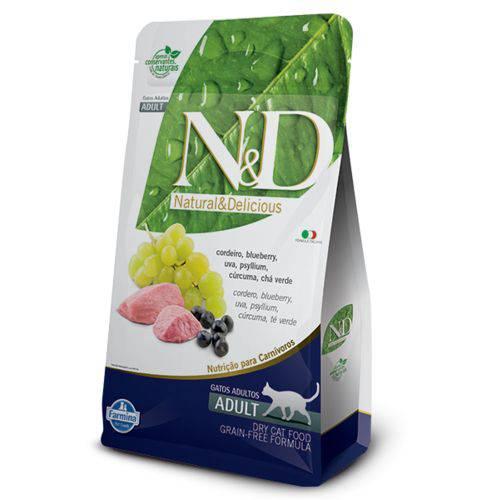 Ração Farmina N&D Grain Free Cordeiro para Gatos Adultos - 1,5Kg