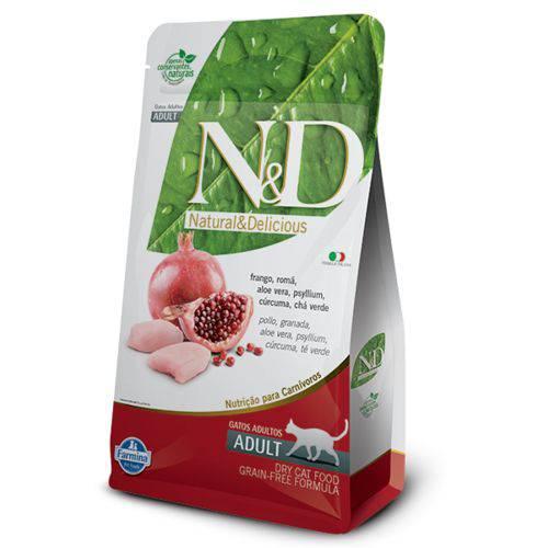 Ração Farmina N&D Grain Free Frango para Gatos Adultos - 10,1kg