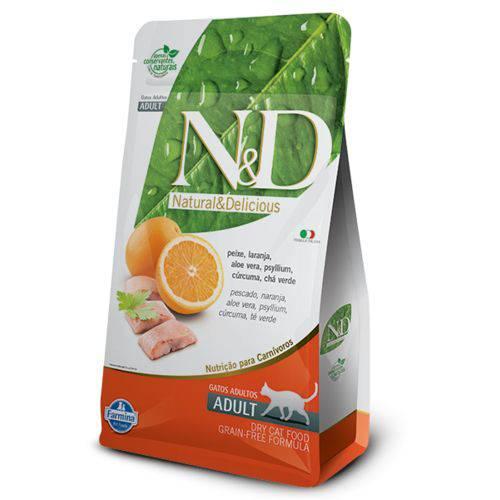 Ração Farmina N&D Grain Free Peixe para Gatos Adultos - 1,5kg