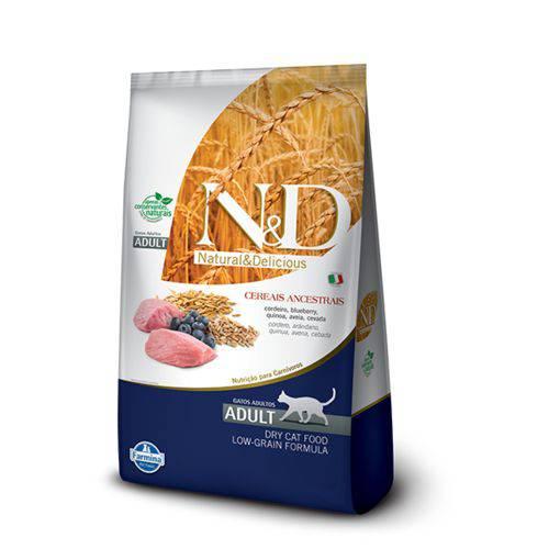Ração Farmina N&D Low Grain Cordeiro para Gatos Adultos - 10,1kg
