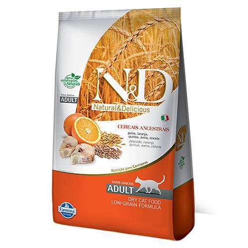 Ração Farmina N&d Low Grain para Gatos Adultos Sabor Peixe e Laranja - 400g
