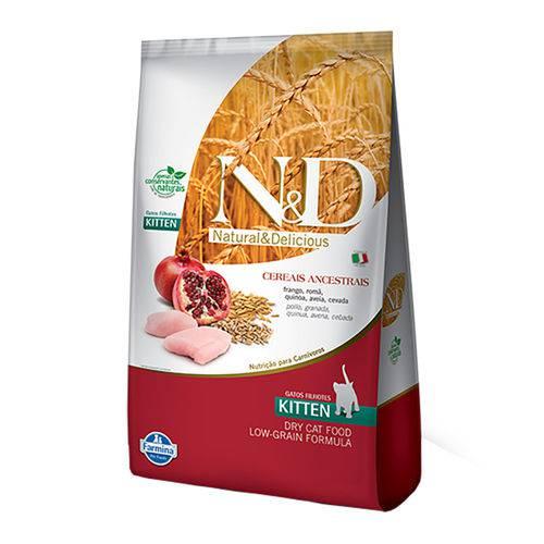 Ração Farmina N&d Low Grain para Gatos Filhotes Sabor Frango e Romã - 400g