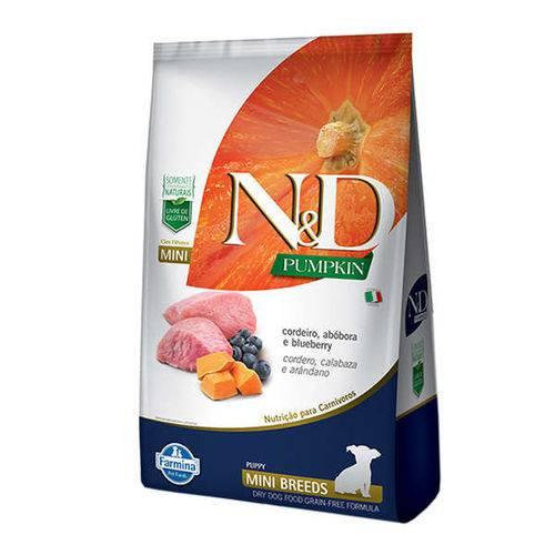 Ração Farmina N&D Pumpkin Cordeiro para Cães Filhotes de Raças Pequenas - 800 G