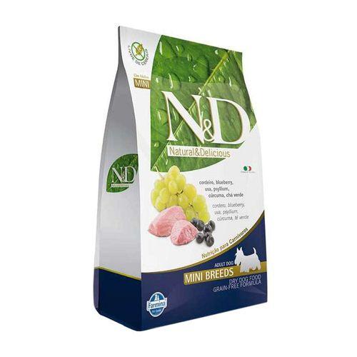 Ração Farmina N&D Grain Free Sabor Cordeiro e Blueberry para Cães Adultos de Raças Pequenas 10,1kg
