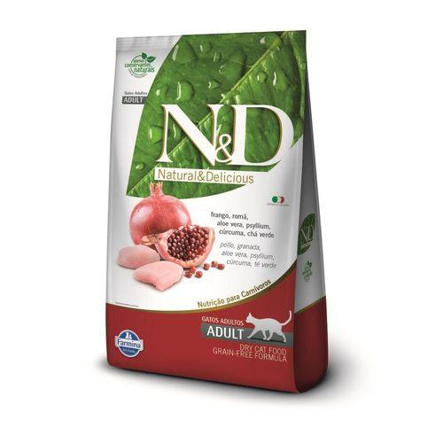 Ração Farmina N&D Grain Free Sabor Frango e Romã para Gatos Filhotes 400g
