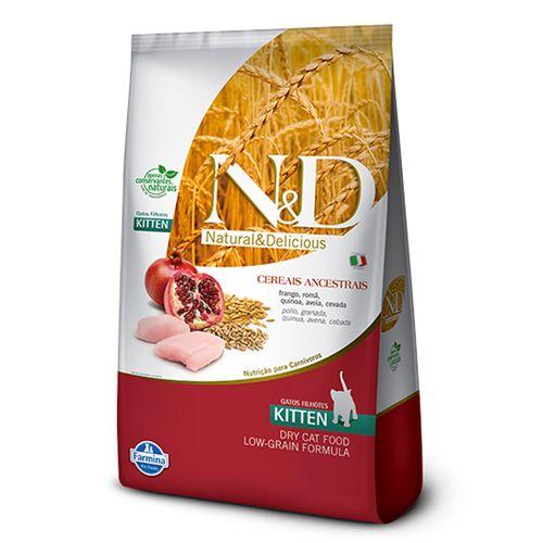 Ração Farmina N&D Low Ancestral Grain Kitten Sabor Frango e Romã para Gatos Filhotes 400g